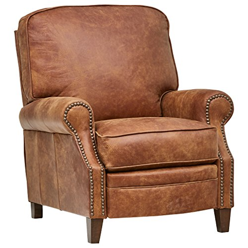 Stone & Beam Jameson Farmhouse Leather Recliner, 36