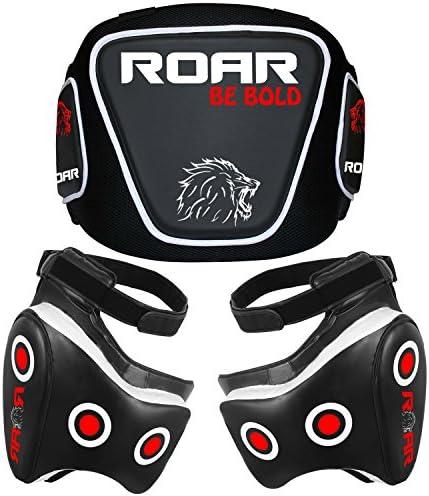 ROAR MMA Belly Pad Body Protector Muay Thai Sparring UFC Training Rib Guard