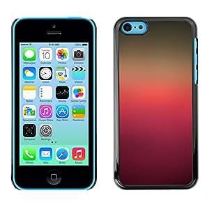 [Neutron-Star] Snap-on Series Teléfono Carcasa Funda Case Caso para iPhone 5C [Colores de degradado Rosa púrpura de Brown]