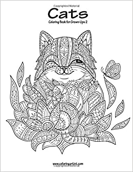amazoncom cats coloring book for grown ups 2 volume 2 9781539551119 nick snels books - Coloring Book For Grown Ups