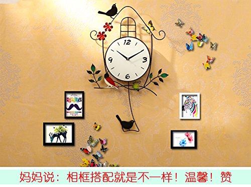 RBB クロックは、北ヨーロッパスタイルの時計、個性、独創性、シンプルさ、居間、寝室、無言の家庭のペンダントは、尚中。,他,新しい夜のcd−rom(グリーンバードケージ) B07DMFMYZ6 他|新しい夜のcdrom(グリーンバードケージ) 新しい夜のcdrom(グリーンバードケージ) 他