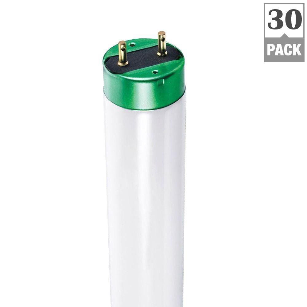 Philips 451815 32W T8 Daylight Deluxe 6500K Alto Linear Fluorescent Light Bulb (30 Pack), 4'
