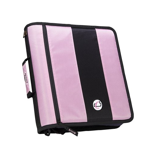 case-it 2-inch ring zipper binder  purple  d-251-pur
