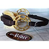 Horse Saddle Adjustable SheepFur Leather Bitless English Western Hackamore 35H24