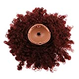 Baoblaze Dolls Wig Long Curly Hair Head Scalp Shell Kit for 12inch RBL Blythe Takara Custom Accessories Makeup Brown Color