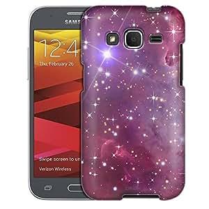 Samsung Galaxy Prevail LTE Case, Slim Fit Snap On Cover by Trek Nebula Purple Case