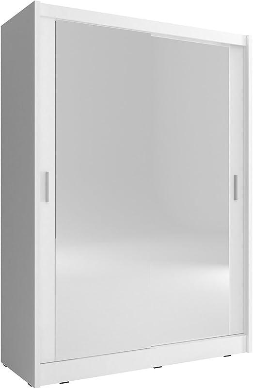 Mirjan24 Armario FIBO 130, Dormitorio Armario con Espejo, 130 x 200 x 62 cm, Elegante para Armario de Puertas correderas, Dormitorio Juvenil, Puerta corredera: Amazon.es: Juguetes y juegos