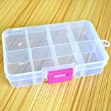 FinalZ 8 Grid Plastic Adjustable Jewelry Box Jewelry Storage Organizer Containers Jewelry Organizer Box with Removable Dividers (2pcs)