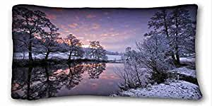 Generic Personalized Nature Custom Cotton & Polyester Soft Rectangle Pillow Case Cover 20x36 inches (One Side) suitable for Full-bed
