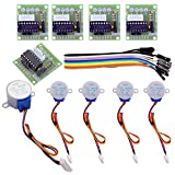 Easyget 5pcs Sets 28BYJ-48 ULN2003 5V Stepper Motor + ULN2003 Driver Board for Arduino