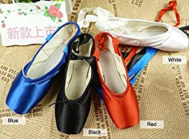 07ddeb017dc3a Amazon.com : WENDYWU Ballet Dance Shoes Colorful Blue Red White ...
