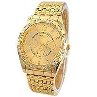 Teresamoon watch , Luxury Diamond Metal Stainless steel Quartz Wrist Watch (Gold)