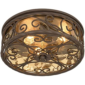 Natural Mica Collection 15 Quot Wide Iron Ceiling Light