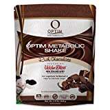 Optim Metabolic Meal Replacement Shake With Clinically Proven Ingredients For Weight Management, Grass Fed Hormone Free Whey Protein, High Fiber, Low Carb, Chocolate, 30 servings