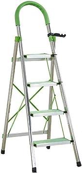 Casa Escalera de metal, Caja de cuatro pasos escaleras de tijera Escalera Estable Pedal antideslizante Tamaño de tijera plegable: 40 * 4.5 * 153 cm 2 colores Engrosado (Color : C, Size : 40 * 153cm): Amazon.es: Bricolaje y herramientas
