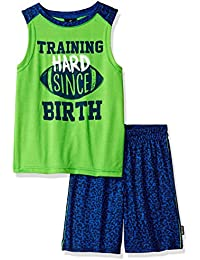 Boys' Sleeve and Screen Print Athletic 2 Piece Set