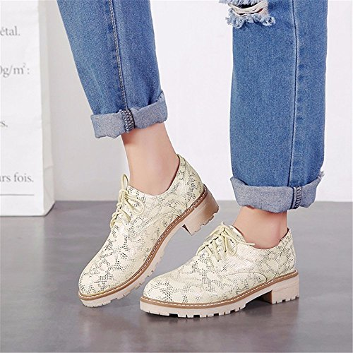 de suela estudiantes Zapatos profunda calzado casual encajes yellow UPS de otoño dA114nx