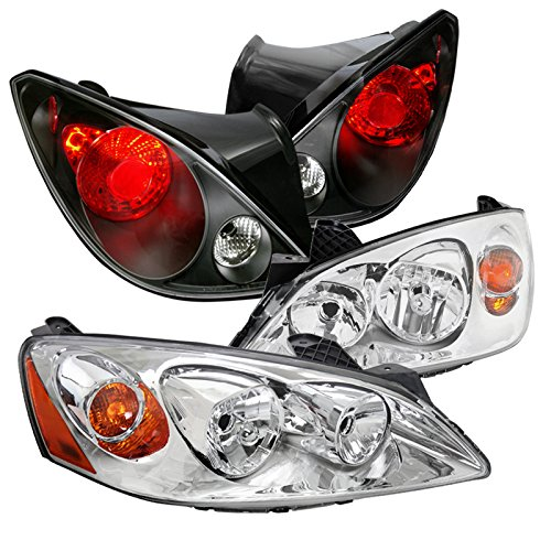 Coupe 2dr Brake - Pontiac G6 2Dr Replacement Clear Headlights+Black Rear Brake Lights Tail Lamps