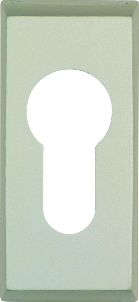 ABUS 039591 RS314 F2 SB - Copertura protettiva per buco della serratura per porte in metallo, 14 mm, colore: argento nichel