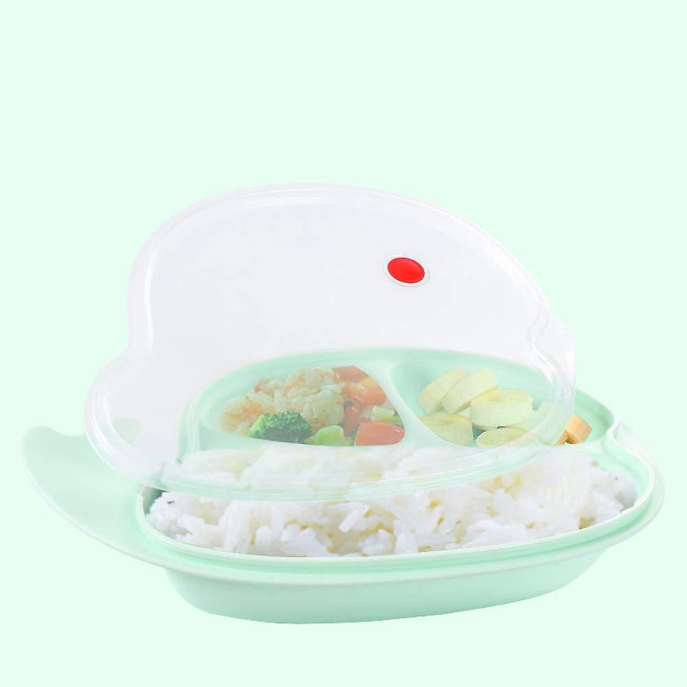 Aisoway Plaque Silicone Alimentation pour b/éb/és Vaisselle Alimentaires Anti-Chute avec Couvercle /étanche Attraper pour b/éb/és et Enfants en Bas /âge