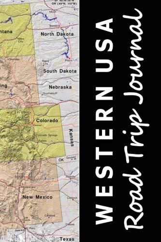 Western USA Road Trip Journal (Map-themed Travel Diaries) (Road Map Of Washington Oregon And Idaho)