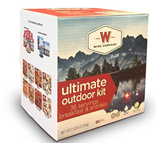 Wise Company Ultimate Outdoor Kit, Freeze-Dried Camping Foods, Variety Pack, 7-Year Shelf Life, 40 Servings