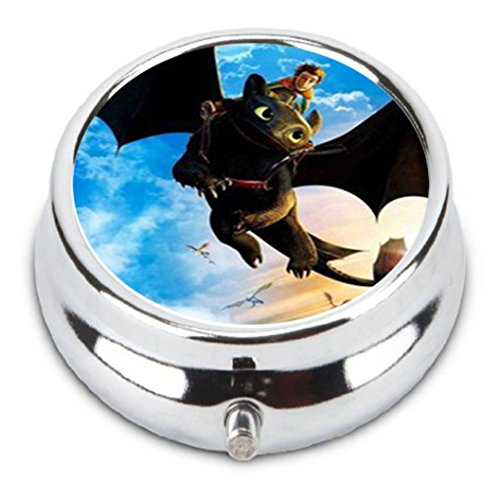 How To Train Your Dragon Custom Fashion Pill Box Medicine Tablet Holder Organizer Case for Pocket or Purse