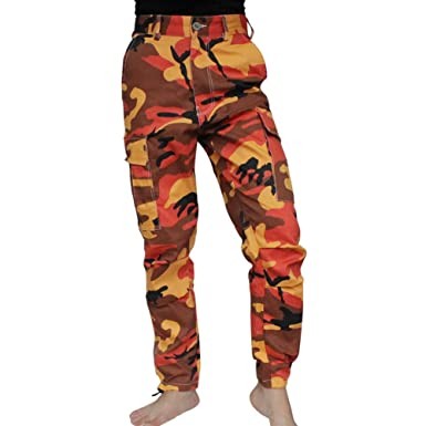 GYM EIF Women s Casual Camouflage Cargo Pants Military Multi-Pockets Rip  Stop Tactical Trouser Size 4586f70350b