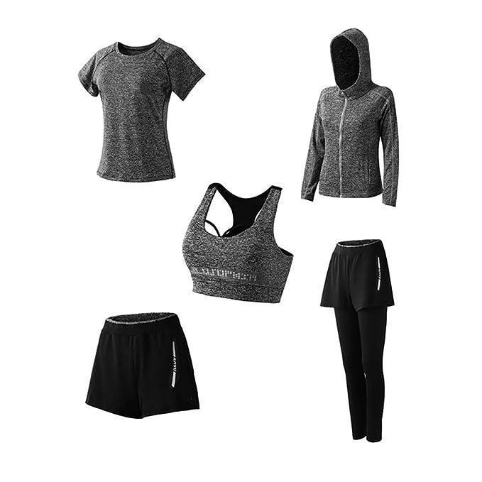 Amazon.com: YOUTH UNION - Traje de yoga para mujer, 5 piezas ...