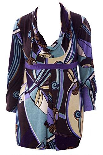Olian Women's 3/4 Sleeve Cowl Neck Maternity Top X-Small Multicolor - Olian Maternity 3/4 Sleeve Top