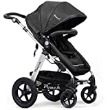 POUCH 2 in 1 Baby Toddler PRAM Stroller Jogger Aluminium with Bassinet (Black)