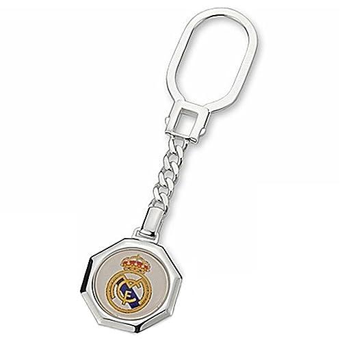 Llavero escudo Real Madrid Plata de ley octogonal esmaltado ...