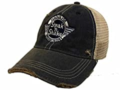 Top Quality Brown with Tan Mesh Retro Brand Vintage Worn Tattered Style Adjustable Snapback Slouch Relax Hat Cap. Brand New & Never Been Worn. 100% Authentic.