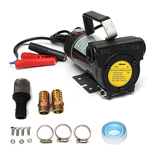 OUKANING Transfer Pump 12V 280W Portable Fuel Diesel Oil Siphon Self Priming 3000RPM