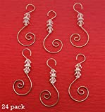 Diamond Swirled Beaded Holiday Ornament Hooks 24 Christmas Decoration Hangers