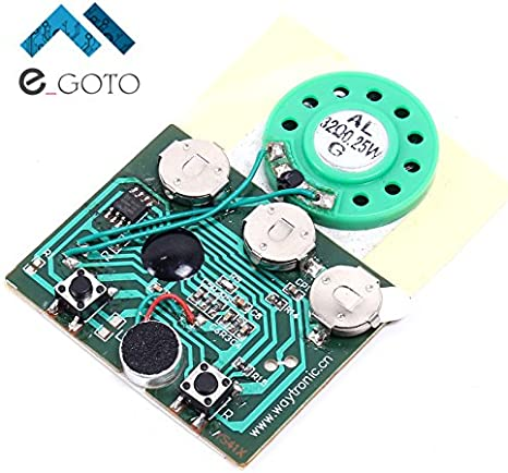 30S 30secs Greeting Card Sound Voice Music Recordable Recorder Board Chip Module