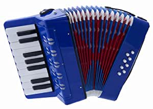 D'Luca G104-BL Kids Piano Accordion 17 Keys 8 Bass, Blue