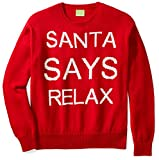 Ugly Fair Isle Unisex Jacquard Santa Says Relax Crewneck Christmas Sweater