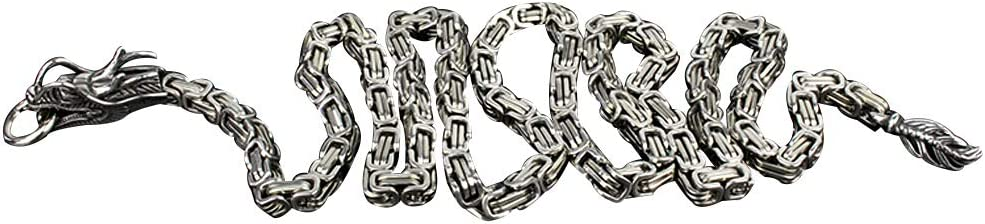 Odowalker Self Defense Chain Bracelet Heavy Duty 40 inch Full Stainless Steel Chain