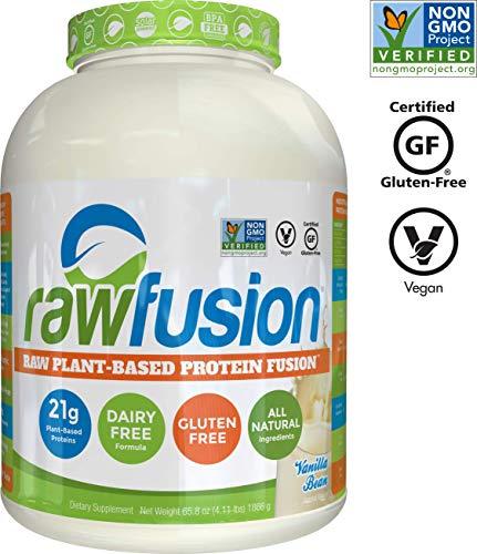 (SAN Nutrition RawFusion Plant Protein Powder, Vanilla Bean, 65.3 Ounce)