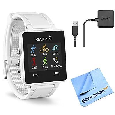 Beach Camera Garmin vivoactive GPS Smartwatch - White (010-01297-01) Charging Clip Bundle Includes White vivoactive GPS Smartwatch, Charging Clip and Micro Fiber Cloth