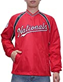WAS NATIONALS Mens Athletic Wind Breaker Jacket with Lining