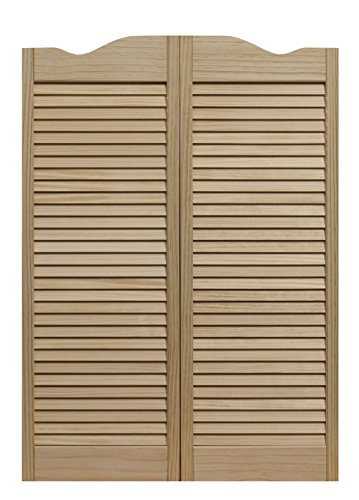 Pinecroft 858442 Dixieland Louvered Café Interior Swing Wood Door, 24'' x 42'', Unfinished by LTL Home Products