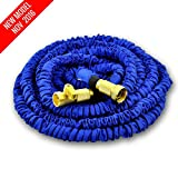 NEW MODEL OF WORLD'S STRONGEST Expandable Garden Hose with MADE IN USA inner tube material, Garden Hose Expanding Hose Flexible Hose Water Hose Expandable Hose (Blue, 25 ft)