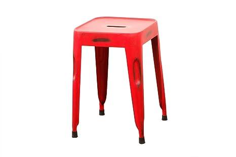 Sgabello Design Industriale : Miliboo sgabello design industriale metallo rosso factory