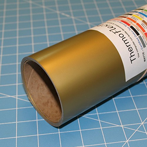 ThermoFlex Plus 15'' x 10' Roll Old Gold Heat Transfer Vinyl, HTV by Coaches World by Thermoflex