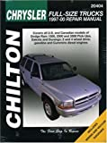Chrysler Full-Size Trucks, 1997-00, Haynes North America Inc. Staff and Chilton Automotive Editorial Staff, 1563924161