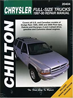 chrysler full size trucks 1997 00 chilton s total car care repair rh amazon com Yamaha Service Manuals PDF Tractor Service Manuals