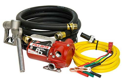 Fill-Rite RD812NH 8 GPM 12V Portable Fuel Transfer Pump with Manual Nozzle, Discharge Hose, Suction...