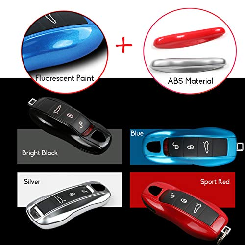Jaronx Glossy Key Fob Shell Cover Painted Keyless Entry Skin Protectors Compatible with:Porsche Boxster Turbo Cayenne Panamera Macan Cayman 911 3PCS Remote Key Covers Compatible with Porsche